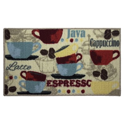 Textured Loop Coffee Kitchen Area Rug Rug Size: 16 x 26