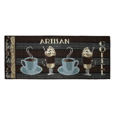 Textured Loop Artisan Coffee Kitchen Area Rug Rug Size: Rectangle 18 x 4