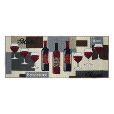 Textured Loop Wine Time Kitchen Area Rug Rug Size: Rectangle 18 x 4