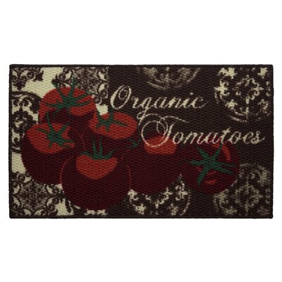 Textured Loop Tomatoes Kitchen Area Rug Rug Size: 16 x 26