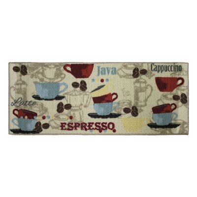 Textured Loop Coffee Kitchen Area Rug Rug Size: Rectangle 18 x 4