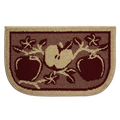 Textured Loop Apple Orchard Wedge Slice Kitchen Area Rug