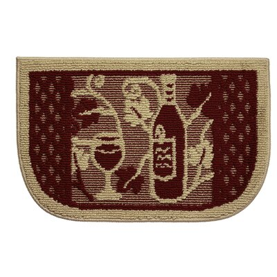 Textured Loop Wine Tasting Wedge Slice Kitchen Area Rug
