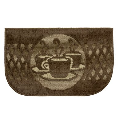 Textured Loop Day Time Coffee Wedge Slice Kitchen Area Rug