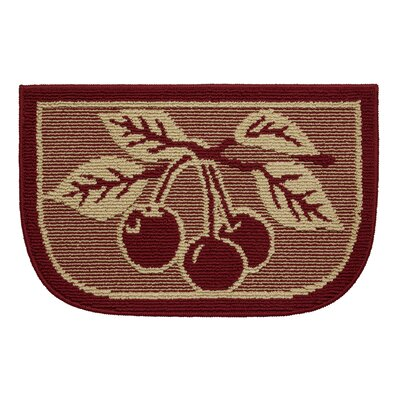 Textured Loop Cherry Bonanza Wedge Slice Kitchen Area Rug