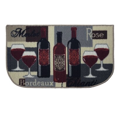 Textured Loop Wine Time Kitchen Area Rug