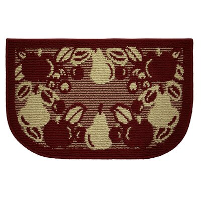 Textured Loop Fruit Border Wedge Slice Kitchen Area Rug