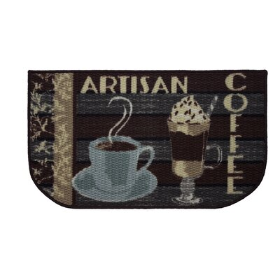 Textured Loop Artisan Coffee Kitchen Area Rug