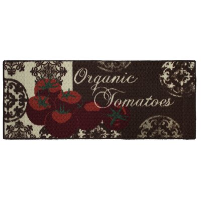 Textured Loop Tomatoes Kitchen Area Rug Rug Size: Rectangle 18 x 4