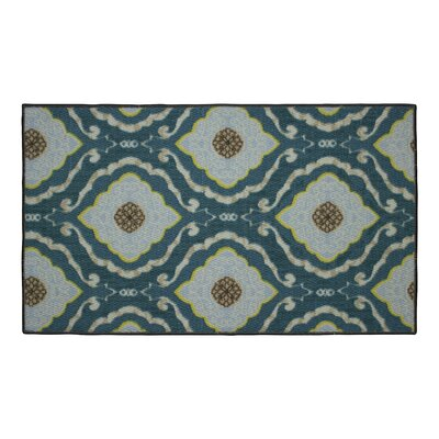 Julianna Blue Area Rug Rug Size: 22 x 39