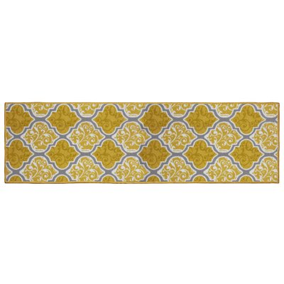 Kiana Yellow Area Rug Rug Size: Runner 18 x 5