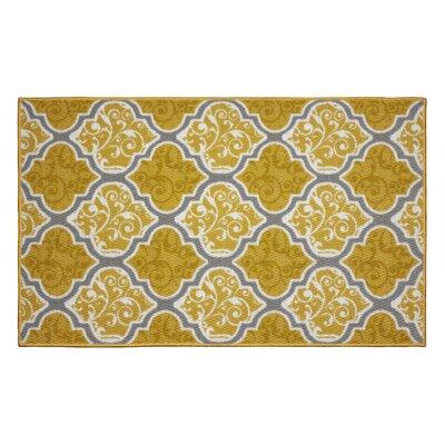 Kiana Yellow Area Rug Rug Size: 22 x 39