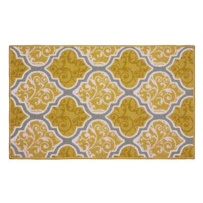 Kiana Yellow Area Rug Rug Size: 16 x 26