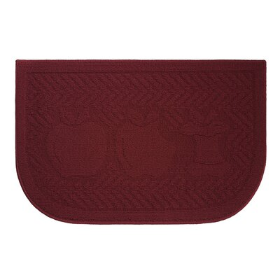 Applelisios Kitchen Mat Rug Size: Wedge 16 x 24