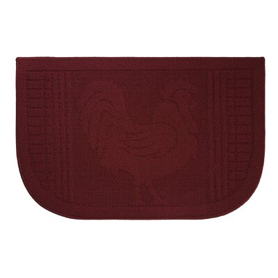 Mr. Rooster Kitchen Mat Rug Size: Wedge 16 x 24