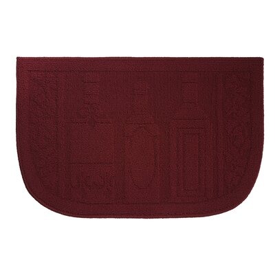 Wine Bottle Kitchen Mat Rug Size: Wedge 16 x 24