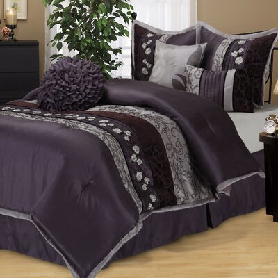 Riley 7 Piece Comforter Set Size: King