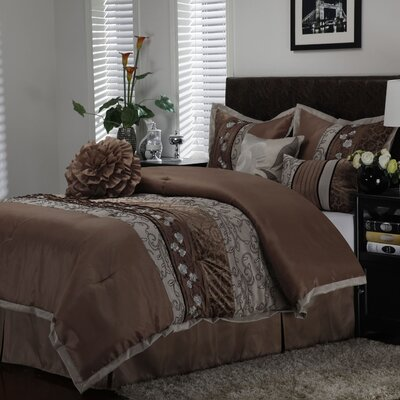 Riley 7 Piece Comforter Set Size: California King
