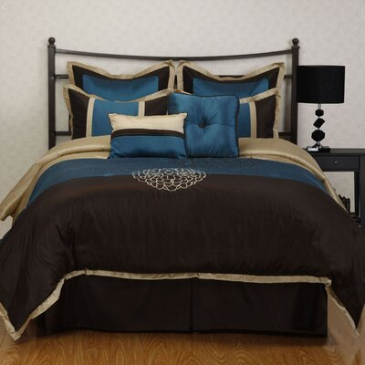 Phoebe 8 Piece Comforter Set Size: Queen