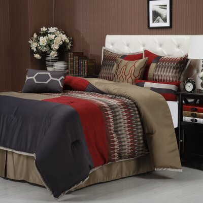 Towers 7 Piece Comforter Set Size: King