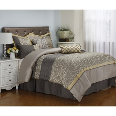 Joseline 7 Piece Comforter Set Size: Queen