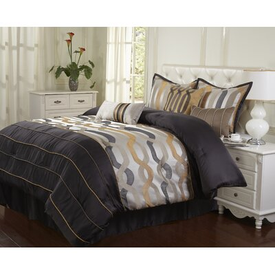 Rockford 7 Piece Comforter Set Size: Queen
