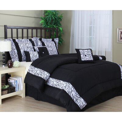 Mali 7 Piece Comforter Set Size: King