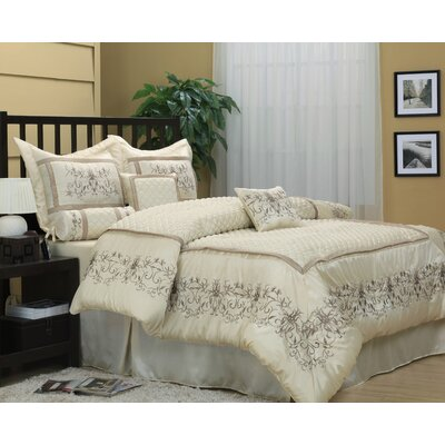 Vivian 7 Piece Comforter Set Size: Queen