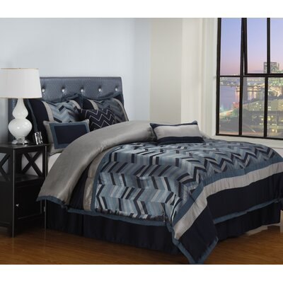 Lexi 7 Piece Comforter Set Size: California King