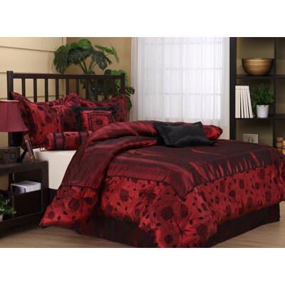 Evangeline 7 Piece Comforter Set Size: California King