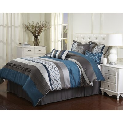 Cashbah 7 Piece Comforter Set Size: Queen