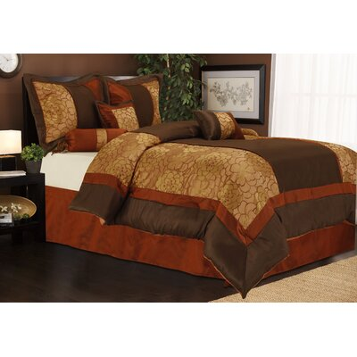 Sibyl 7 Piece Comforter Set Size: King