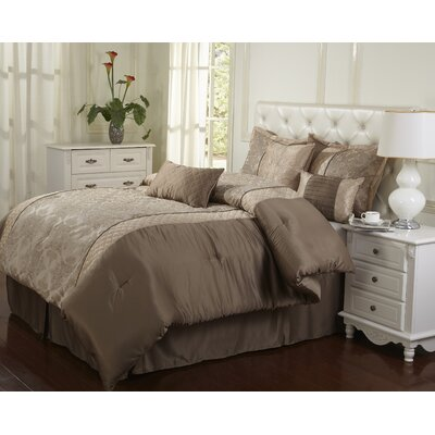 Montage 7 Piece Comforter Set Size: Queen