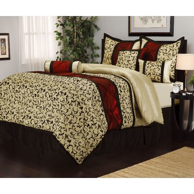 Bella 7 Piece Comforter Set Size: King