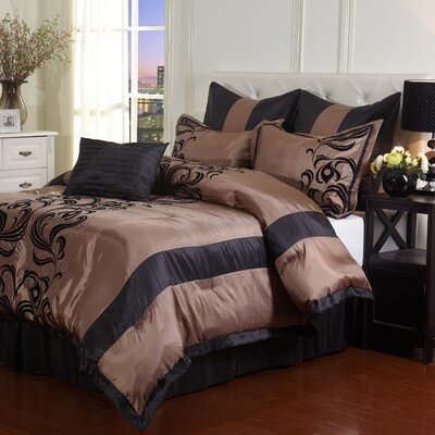 Madeline 7 Piece Comforter Set Size: King