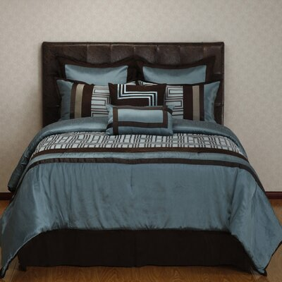 Maze 8 Piece Comforter Set Size: Queen