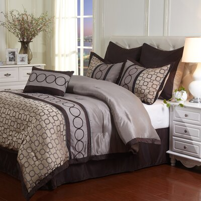 Griffin 7 Piece Comforter Set Size: King