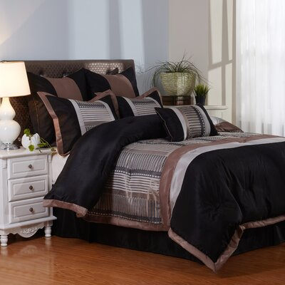 Vance 7 Piece Comforter Set Size: Full