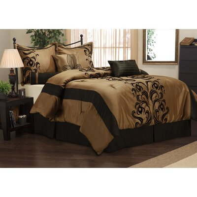 Helda 7 Piece Comforter Set Size: Queen