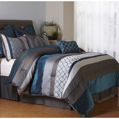 Avalon 8 Piece Comforter Set Size: California King