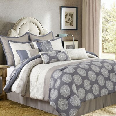 Dante 10 Piece Comforter Set Size: California King