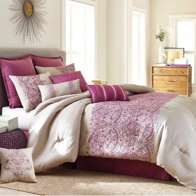 Martine 10 Piece Comforter Set Size: King