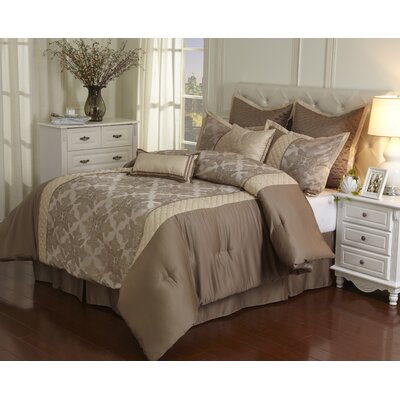 Fairmount 8 Piece Comforter Set Size: Queen