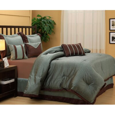 Tobey 7 Piece Comforter Set Size: King