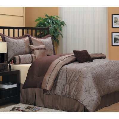 Dionne 7 Piece Comforter Set Size: King