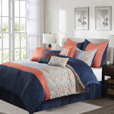 Dascha 10 Piece Comforter Set Size: King