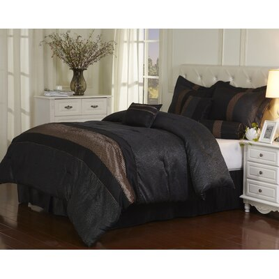 Corell 7 Piece Comforter Set Size: California King