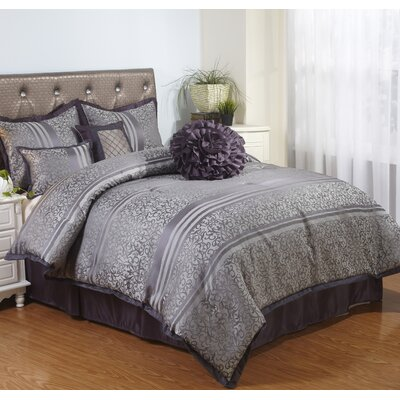 Paige 7 Piece Comforter Set Size: California King