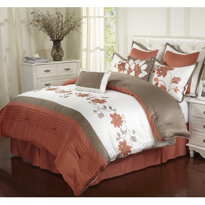 Mackenzie 8 Piece Comforter Set Size: California King