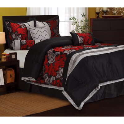 Lincoln 7 Piece Comforter Set Size: King